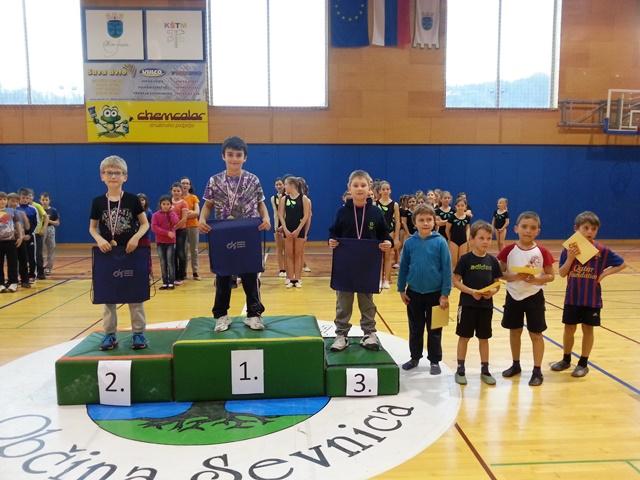Občinsko tekmovanje v gimnastiki